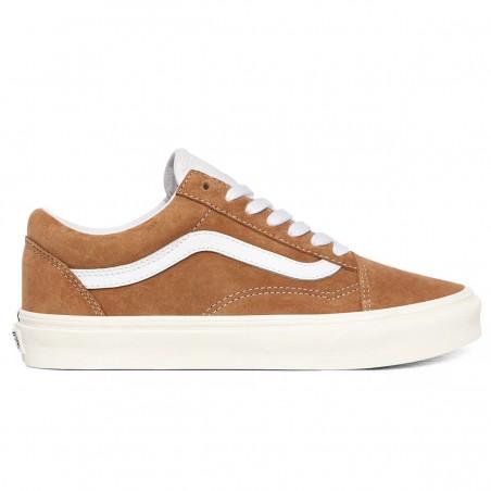 """VANS Shoes """"Old Skool"""" (Pig Suede) Brown/Sugar/Snow white"""