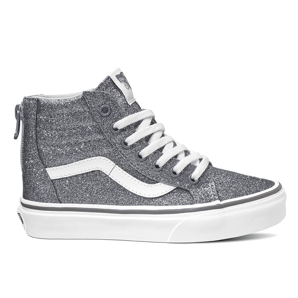 VANS Shoes SK8-Hi Zip (glitter) Pewter