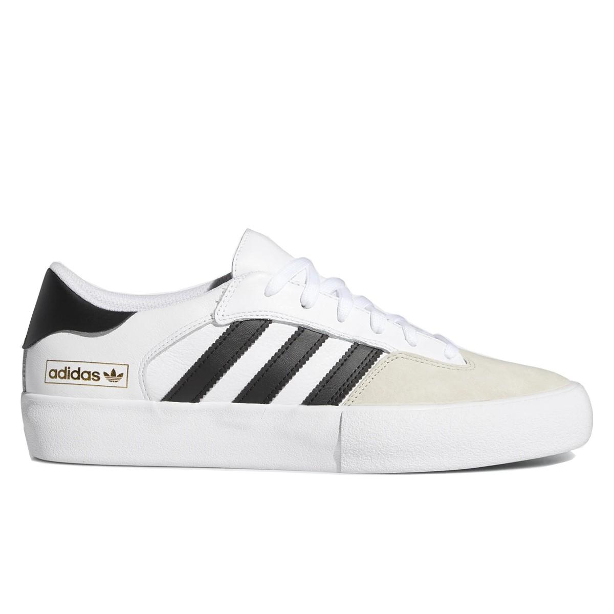 "ADIDAS ""Matchbreak Super"" white skate shoes 3 stripes black"